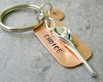 Personalized LACROSSE Keychain, Lax Keychain, Lacrosse Lover, Lacrosse Stick, Lacrosse Coach Gift, Lacrosse Team, optional initial disc
