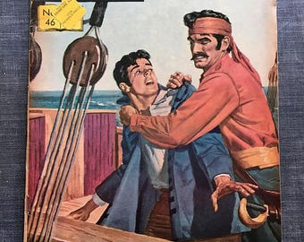 Classics Illustrated Comics No. 46 Kidnapped by Robert Louis Stevenson, Vintage Comics, Kidnapped, Old Comic Book, Silver Age Comics