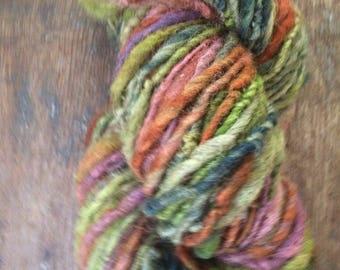 Interstate Love Song, handspun bulky yarn, 108 yards, bulky yarn, rustic art yarn, chunky yarn, wool handspun yarn
