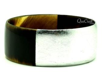 Horn & Lacquer Bangle Bracelet - Q11411-S