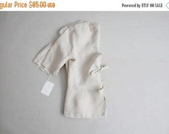 25% OFF SALE beige linen jacket | bow tie jacket | beige linen blazer