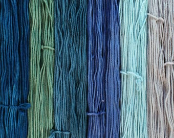 The North set of 6 one ounce skeins worsted weight wool total 330yds 302m