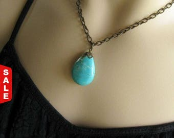 Turquoise Jewelry  Gemstone Jewelry Turquoise Pendant December Birthstone, Gift for Her Jewelry