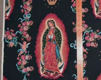 Religious fabric Blessed Virgin Mary fabric Alexander Henry Virgin of Guadelupe fabric Our Lady of Guadalupe fabric