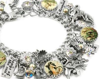 Mermaid Bracelet, Mermaid Jewelry, Mermaid Handcrafted Jewelry, Ocean Bracelet