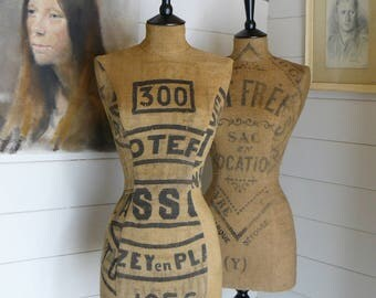 Unique Gift Home Decor 1956 French Grainsack Mannequin Unique Industrial Grain Sack OOAK