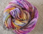 """Dyed to Order**Wonder Sock yarn - """"Tequila Sunrise"""" - superwash Blueface wool and nylon 465 yards 3.5 ounces- shipping on My 25,2018"""
