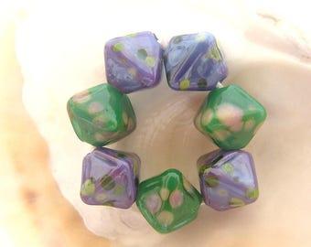 7 Crystal Beads Handmade Lampwork