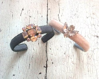 Narrow Adjustable Cuffs with a little Bling