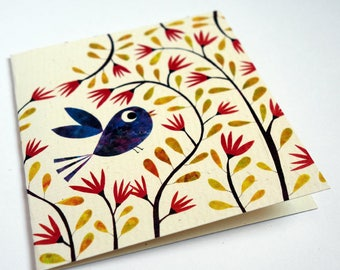 Card, Blue Bird C025
