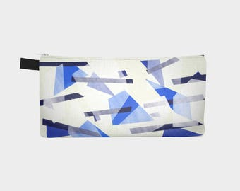 "Sharp Geo, 9"" x 4"" Pencil case / Cosmetic bag"