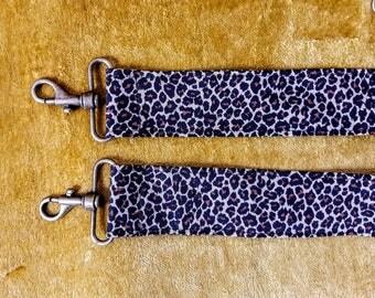 Leopard print purse handle strap