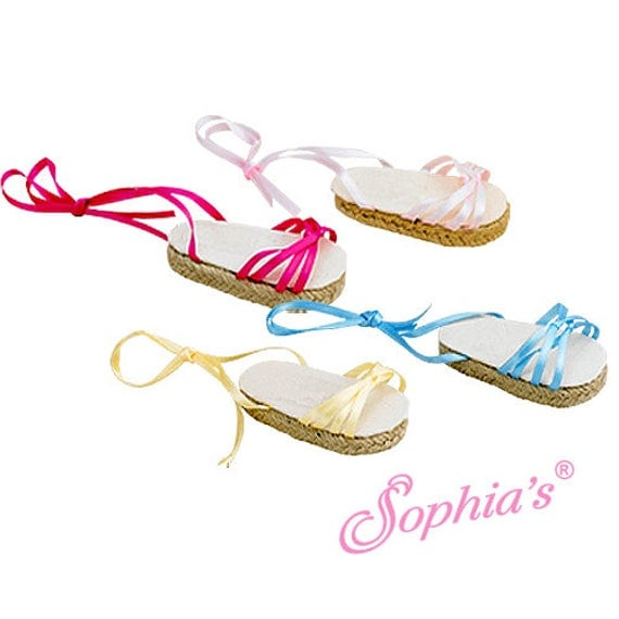 Ribbon Espadrilles - 18 Inch Doll Shoes