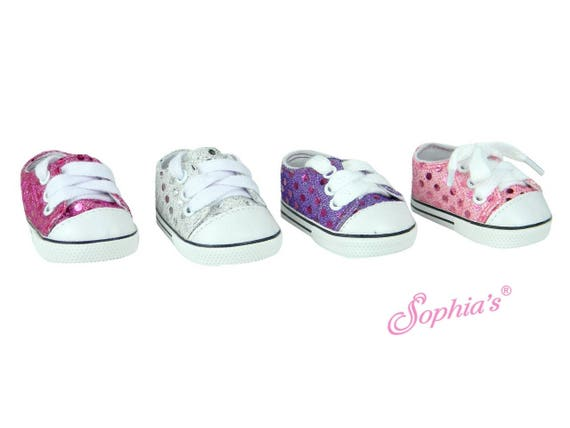 Sequin Sneakers - 18 Inch Doll Shoes