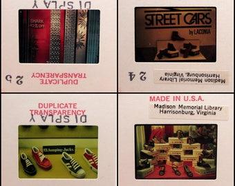 26 Vintage Educational Slides - Store Displays - Window Displays - Interior and Exterior - Vintage Photo Slides - 35mm slides