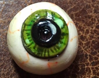 Handmade clay eye eyeball round ball flat back cabochon spirit   doll parts   jewelry craft supplies  handmade clown cabochon body polymer