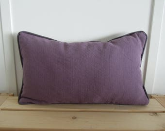 Ultra Violet Pillow Covers, 12x20, Purple and Gray Pillow Covers, Lilac, Grey, Toss Cushions, Linen, Ready to Ship