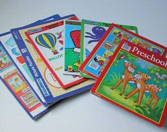 Lot of 8 vintage kids puzzles Age 1-7