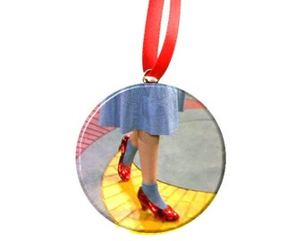 Wizard of Oz Follow the yellow brick road - Christmas Ornament
