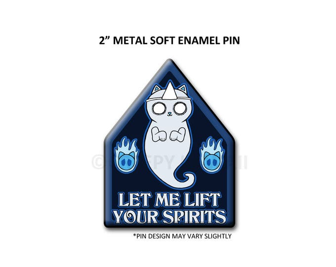 """2"""" Soft Enamel Yurei Neko Pin"""