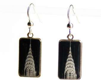 Chrysler Building Earrings