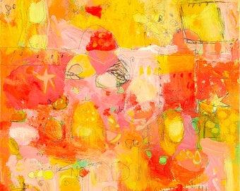 Abstract Canvas Art Print by Jennifer Mercede 'Serendipitous'