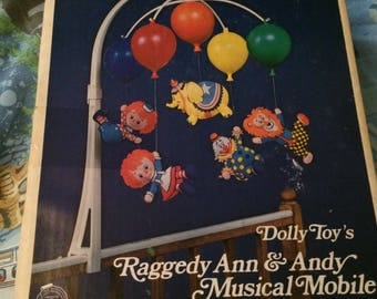 Vintage Raggedy Ann and Andy mobile