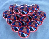 "No FU Trump 1"" Pinback Buttons - Magnets, Zipper Pulls, Hair Ties, Shoe Lace Charms"