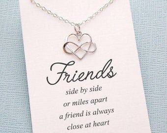 Friendship Necklace | Infinity Necklace, Best Friend Necklace, Friend Gift, Gift for Bestfriend, BFF, Sister Gift, Friendship | F04