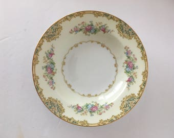 Noritake Alvin Rimmed Soup Bowl 7 5/8 Replacement Fine China 1930's