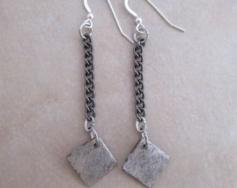 confidence long earrings soldered copper sterling silver