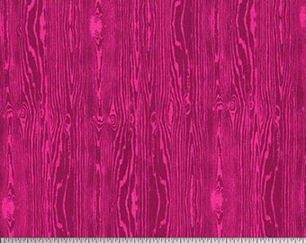Joel Dewberry Fabric, True Colors Collection, Woodgrain in Pink, cotton quilting fabric -  YARD