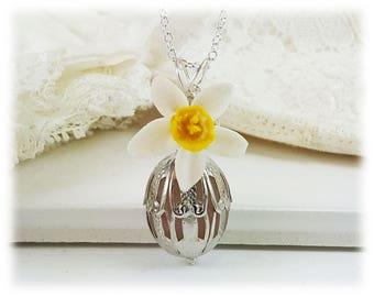 Scented Vanilla Necklace - Vanilla Perfume Jewelry, Vanilla Fragrance Necklace