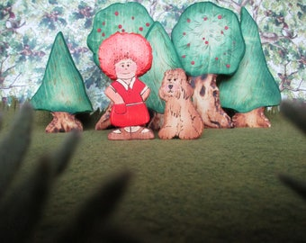 Waldorf Wooden Toys - Annie and Sandy the dog
