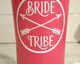 Decal Only - Bride Tribe - Vinyl Decal for Cups, Tumblers, Mugs, Yeti, RTIC