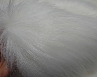 SAMOYED - cRaZy long white faux fur-  2K17 - 1/4m piece