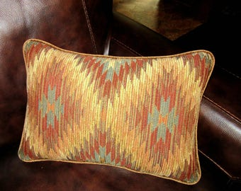 Southwest Chenille Tapestry Textured Lumbar Pillow Decorative Throw Pillow Bedding Kilim Print