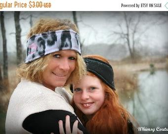 SALE Warm Headband Earwarmer Ear warmer fleece for toddler, teens and adults PDF Sewing Pattern