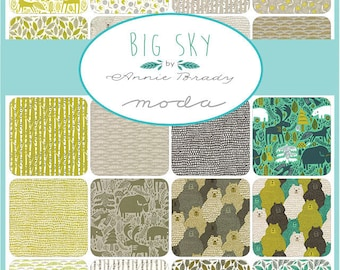 "SQ39 Moda BIG SKY Precut 5"" Charm Pack Fabric Quilting Cotton Squares 16700PP"