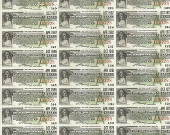300 Old 1913 - New York Central RAILROAD BOND COUPONS - Green