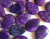 20 x 30mm Violet Crazy Lace Agate Puff Teardrops