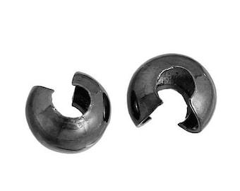 30% Retirement Closeout - Gunmetal, 3mm, Crimp Cover, 50 Pieces, 5CR33-3004