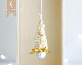 Handmade Miniature Sisal Tree Ornament