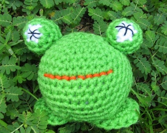 Roly-Poly Plush Frog. Amigurumi Animal Frog. Plush Toy Frog. Kawaii Frog. Crochet Stuffed Frog. Toy Toad. Soft Toy Gift Idea
