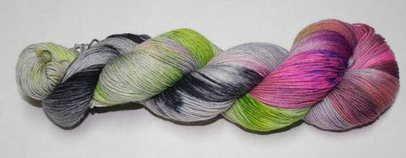 Ready to Ship - Witch's Brew Hand Dyed Sock Yarn - Tough Sock