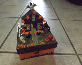 Miniature Halloween Scene