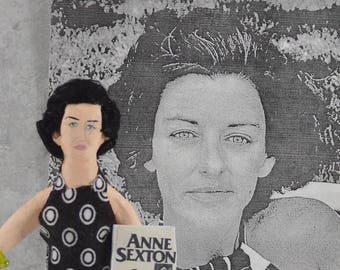 Anne Sexton Author and Poet Doll Miniature Unique Art Character