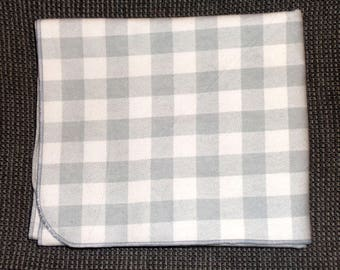 Grey and White Buffalo Plaid Receiving Blanket - Plaid Swaddle Blanket - Baby Boy Girl Receiving Blanket - Flannel Blanket - Baby Photo Prop