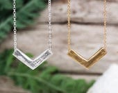 Balancing Heat Necklace | Sterling Silver or Bronze and Gold-fill Necklace