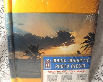 Vintage Hawaiian Photo Album 1970's New Never Opened Magnetic Pages Sentry Caribbean Retro Beach Vacation Palm Trees